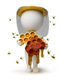 3d小蜂农的人 库存图片