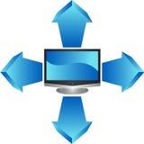 3d平面屏幕电视 免版税图库摄影