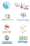 3D徽标 库存例证