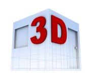 3d徽标 向量例证