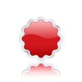3d徽章红色向量 免版税库存图片