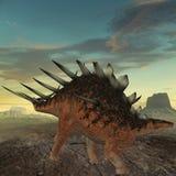 3d恐龙kentrosaurus 库存照片