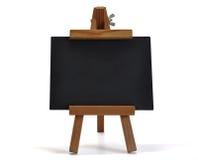 3d您黑板画架查出的文本 免版税库存图片
