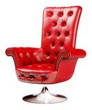 3d扶手椅子裁减路线红色 向量例证