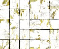 3d抽象与黄色的街道画空白画笔瓦片背景 免版税库存图片