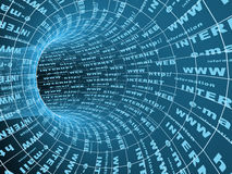 3d抽象互联网符号隧道 免版税库存照片