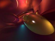 3d抽象五颜六色的橙红发光的黄色 免版税库存图片