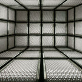 3D抽象大块玻璃 免版税库存图片