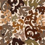 3d抽象无缝的墙纸 免版税库存图片