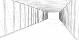 3d抽象结构上建筑 库存照片