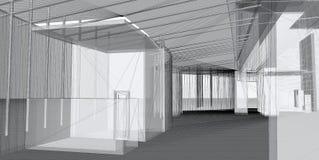 3d抽象结构上建筑 免版税库存照片