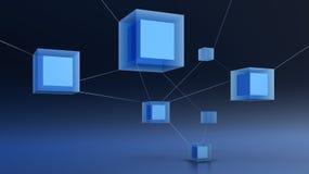 3d抽象网络 免版税库存图片