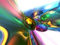 3d抽象背景五颜六色的玻璃状墙纸 免版税图库摄影