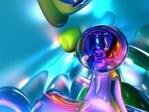 3d抽象背景五颜六色的玻璃状墙纸 免版税库存照片