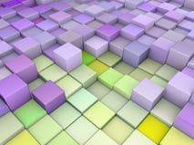 3d抽象背景绿色紫色 免版税库存照片