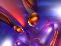 3d抽象颜色光滑的橙色紫色红色回报 图库摄影