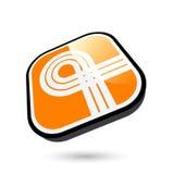 3d按钮图标丝带 免版税库存图片