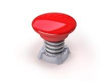 3d按钮红色 免版税库存照片