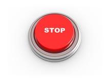 3d按钮终止 免版税库存图片