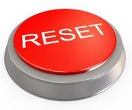 3d按钮重置 免版税库存照片