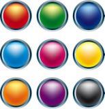 3d按钮 皇族释放例证