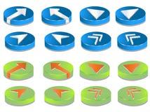 3d按钮 向量例证