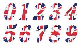 3d收集标志编号英国 皇族释放例证