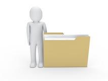 3d文件夹人 向量例证