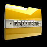 3d文件夹图标例证 免版税库存照片