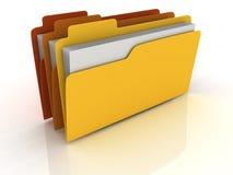 3D文件夹 库存例证