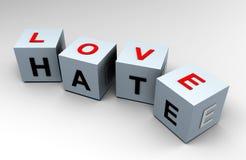 3d更加接近的怨恨图象爱比认为您 向量例证