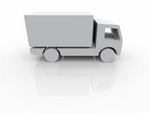 3d有篷货车白色 免版税库存图片