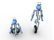 3d机器人 皇族释放例证