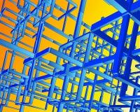 3d束缚techno向量 向量例证