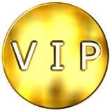 3d构成的金黄vip 库存照片