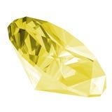 3d柠檬色宝石查出 库存例证