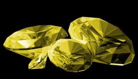 3d查出的柠檬色宝石 库存例证