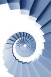 3d查出的螺旋形楼梯 免版税库存图片