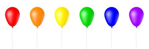 3d查出被回报的气球 免版税库存图片