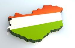 3d标志匈牙利映射 库存照片