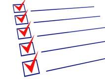3d核对清单 免版税图库摄影