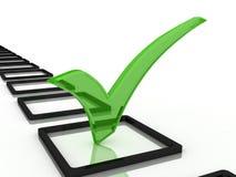 3d检查例证标记 免版税库存图片