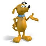 3d棕色狗存在 库存图片