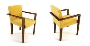 3d椅子现代翻译 向量例证