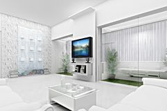 3d概念客厅 图库摄影