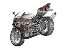 3D概念摩托车的例证 免版税库存图片