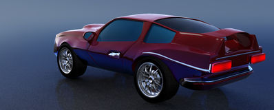 3d概念汽车 免版税图库摄影