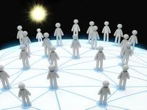 3d概念连接数网络社交 库存例证