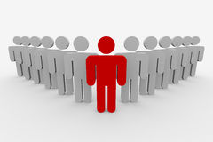 3d概念领导先锋人小组 免版税图库摄影