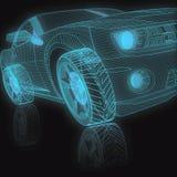3D模型汽车 皇族释放例证